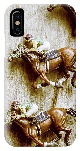 Track iPhone Case - Antique Photo Finish by Jorgo Photography - Wall Art Gallery