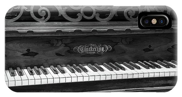 Antique Piano Black And White IPhone Case