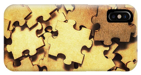 Connections iPhone Case - Antique Puzzle Of Missing Links by Jorgo Photography - Wall Art Gallery