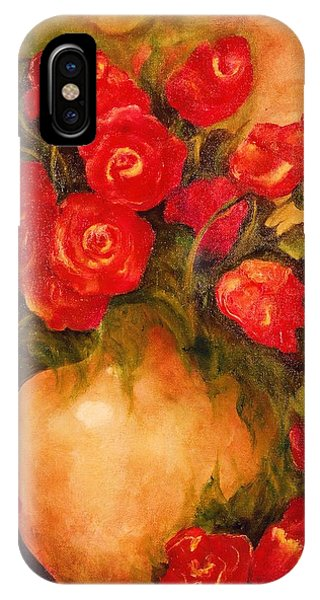 Antique Red Roses IPhone Case