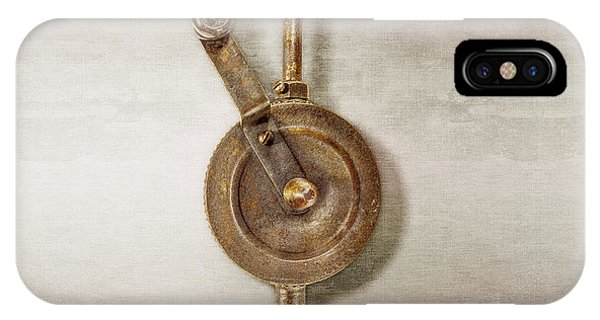 Oxidized iPhone Case - Antique Shoulder Drill Front Side by YoPedro