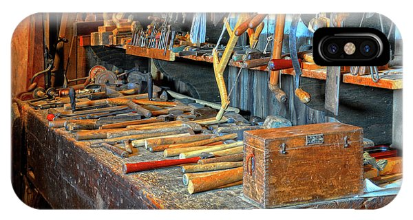 Antique Tool Bench IPhone Case
