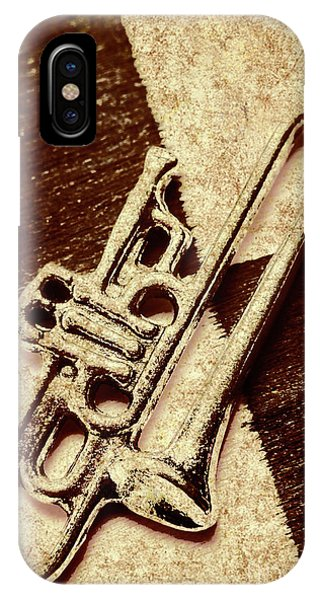 Musical iPhone Case - Antique Trumpet Club by Jorgo Photography - Wall Art Gallery