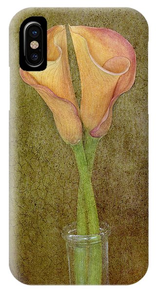 Antiqued Lilies IPhone Case