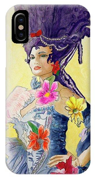 Pen And Ink Drawings For Sale iPhone Case - Antoinette  by Debbie Davidsohn