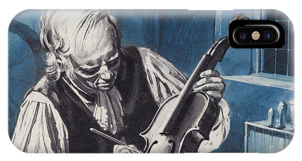 Woodworking iPhone Case - Antonio Stradivari by English School