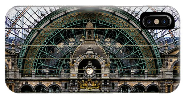 Antwerp Train Terminal IPhone Case