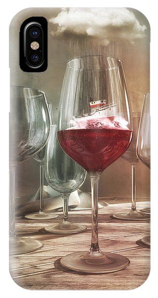 Beverage iPhone Case - Any Port In A Storm by Cynthia Decker