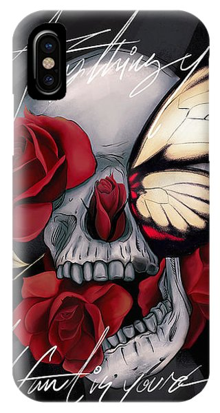 Floral iPhone Case - Anything You Want Is Yours by Canvas Cultures