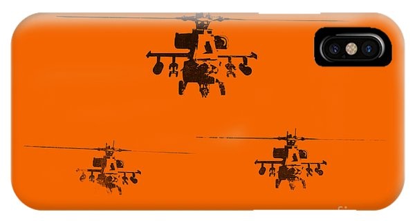 Helicopter iPhone X Case - Apache Dawn by Pixel  Chimp