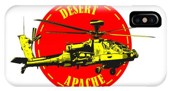 Apache On Desert IPhone Case