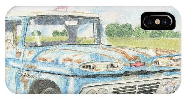 Old Chevy Truck iPhone Case - Apache Out To Pasture by Arlene Crafton