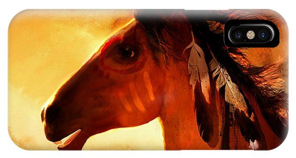 Native American Spirit Portrait iPhone Case - Apache by Valerie Anne Kelly