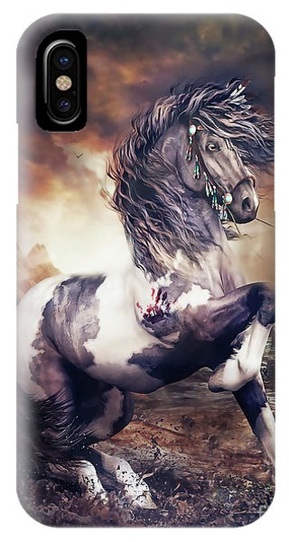 Native iPhone Case - Apache War Horse by Shanina Conway