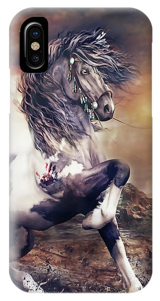 Equine iPhone Case - Apache War Horse by Shanina Conway