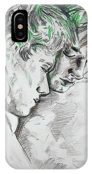 IPhone Case featuring the painting Apallo And Hyacinth  by Rene Capone