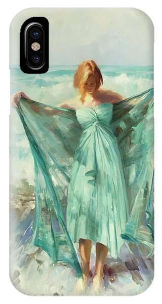 Blue Dress iPhone Case - Aphrodite by Steve Henderson