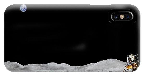 Apollo 15 Landing Site Panorama IPhone Case
