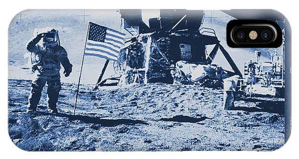 Astronaut iPhone Case - Apollo 15 Mission To The Moon - Nasa by Raphael Terra
