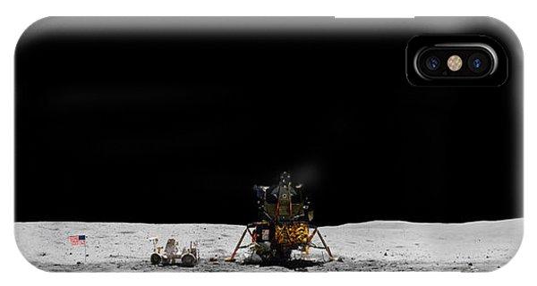 Apollo 16 Landing Site Panorama IPhone Case