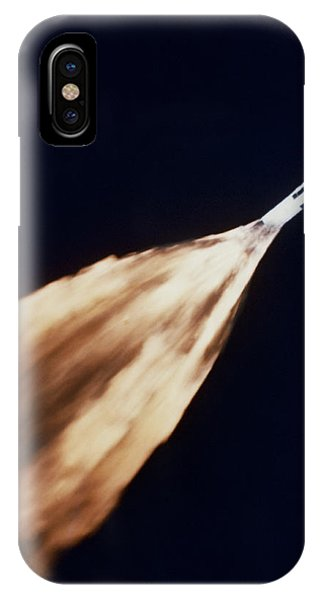 Liftoff iPhone Case - Apollo 6 Spacecraft Leaves A Fiery by Stocktrek Images