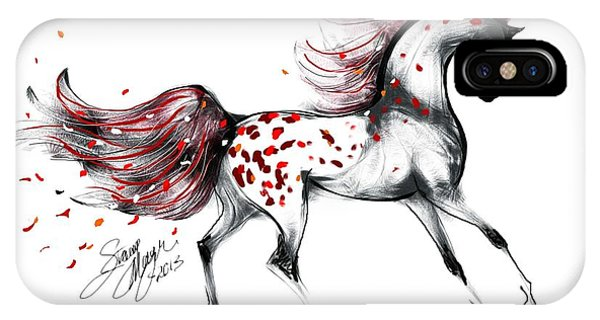Appaloosa Rose Petals Horse IPhone Case