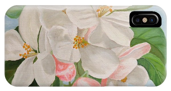 IPhone Case featuring the painting Apple Blossom by Angeles M Pomata