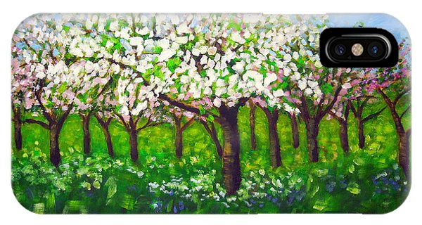 Apple Blossom Orchard IPhone Case