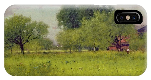 Orchard iPhone Case - Apple Orchard by George Snr Inness