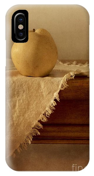 Life iPhone Case - Apple Pear On A Table by Priska Wettstein