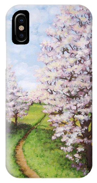 Apple Trees Along The Path IPhone Case