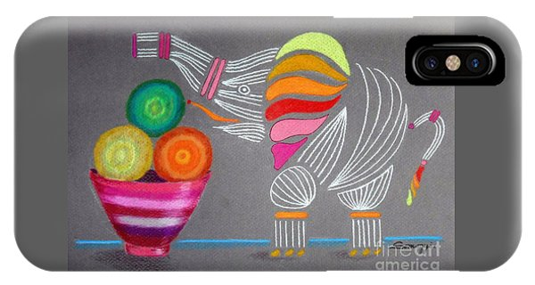 Apples And Oranges And Elephants, Oh My -- Whimsical Still Life W/ Elephant IPhone Case