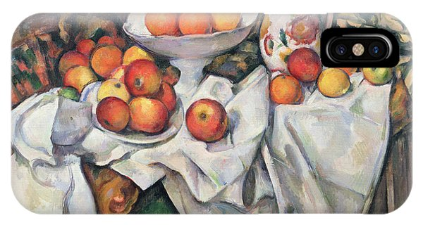 1895 iPhone Case - Apples And Oranges by Paul Cezanne