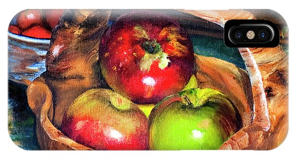 Apples In A Burled Bowl IPhone Case