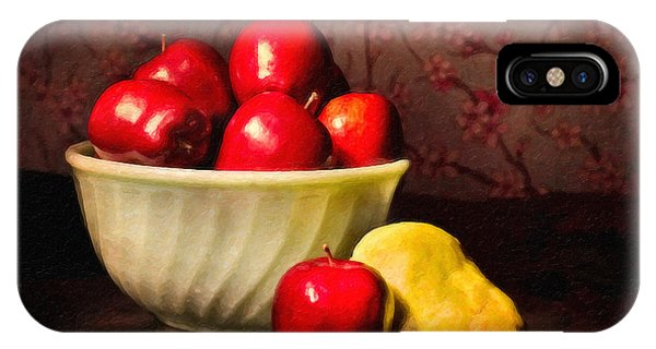 Apples In Bowl With Pear IPhone Case