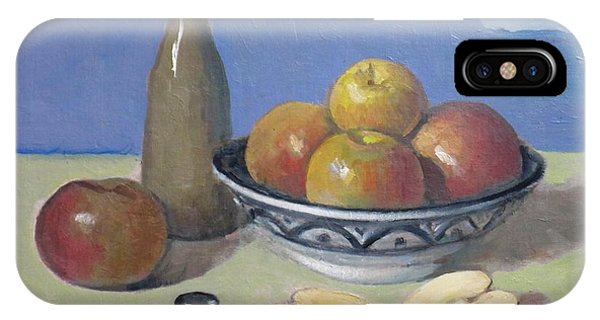 Apples In Moroccan Bowl, Salt And Vintage Bottle IPhone Case