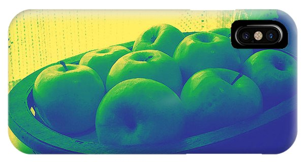 Analogous Color iPhone Case - Apples In Yellow Blue And Green by Shawna Rowe