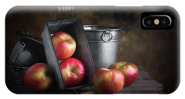 Stainless Steel iPhone Case - Apples With Metalware by Tom Mc Nemar