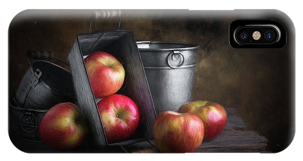 Container iPhone Case - Apples With Metalware by Tom Mc Nemar