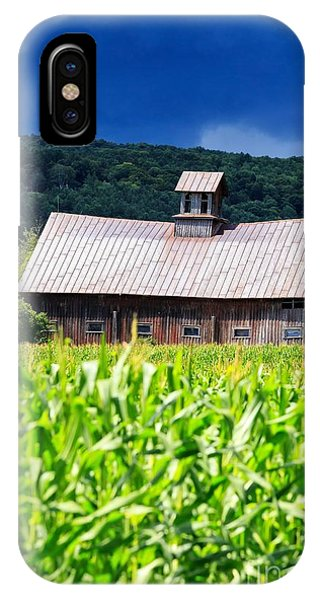 Silo iPhone Case - Approaching Storm Vermont Barn by Edward Fielding