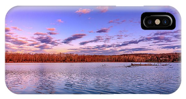 IPhone Case featuring the photograph April Evening At The Lake by Allin Sorenson