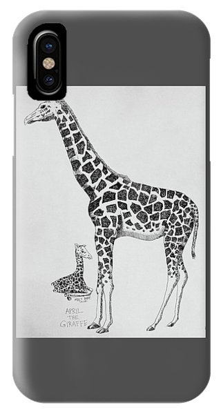 April The Giraffe IPhone Case