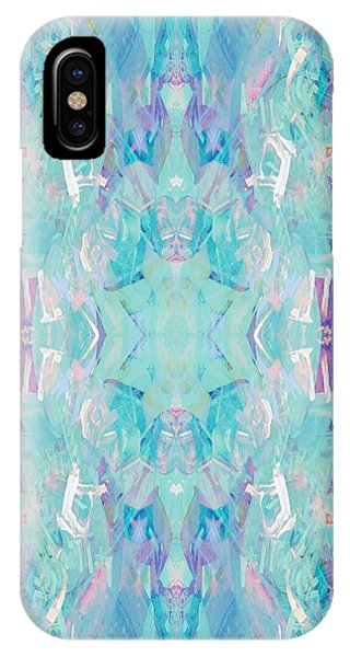 Repeat iPhone Case - Aqua by Beth Travers
