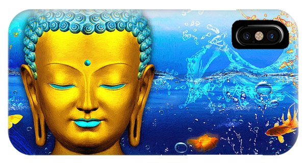 Aqua Buddha IPhone Case