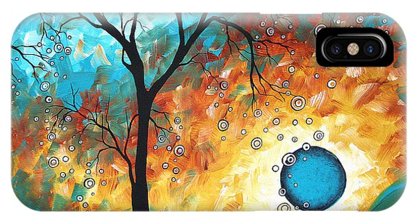Aqua iPhone Case - Aqua Burn By Madart by Megan Duncanson