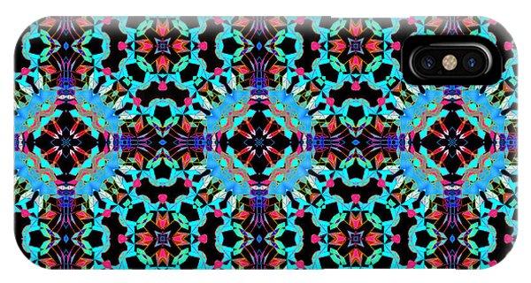 Aqua Geometric Mandala IPhone Case