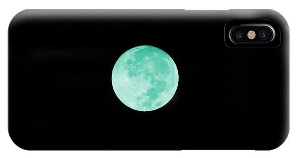 Aqua Moon IPhone Case