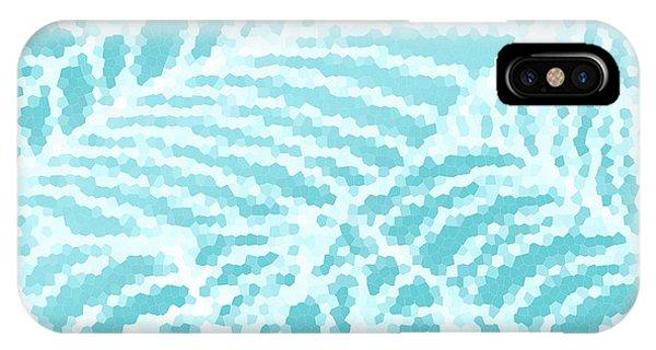 Aqua Pool Leaves IPhone Case
