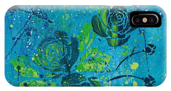 iPhone Case - Aqua Rose Blooms by Julie Acquaviva Hayes