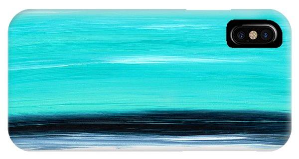 Water Ocean iPhone Case - Aqua Sky - Bold Abstract Landscape Art by Sharon Cummings